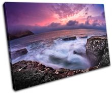 Rocky shore Sunset Seascape - 13-0399(00B)-SG32-LO